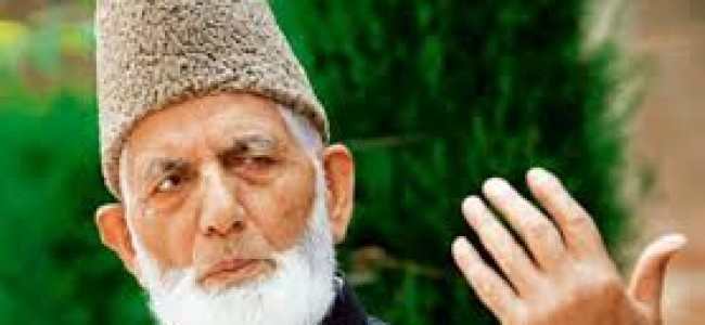 Geelani says education department compromising dignity and moral values