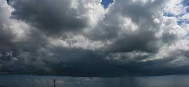 Clouds hover on Srinagar and other parts of Kashmir