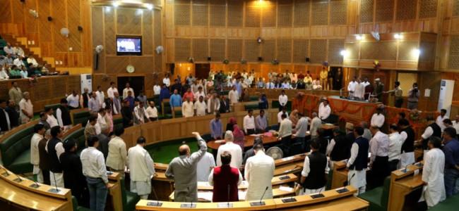 JK Assembly adjourned sine die: Pic Mudasir Khan