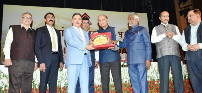 J&K Bank awarded by HUDCO for outstanding contribution in housing sector in J&K state