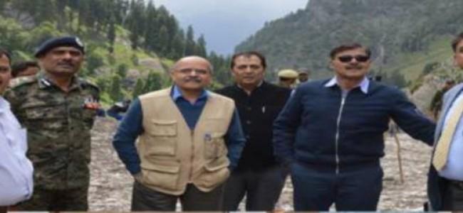 Advisor Kumar, CS review Yatra arrangements at Pahalgam