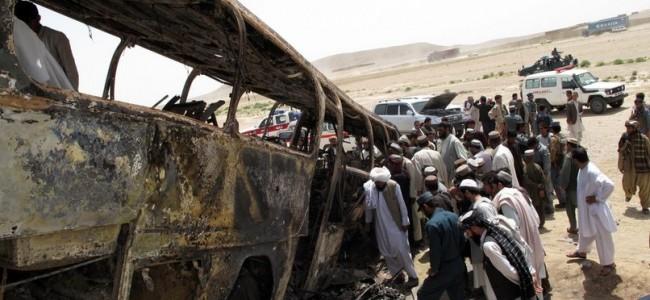Bus strikes roadside bomb in Afghanistan, 34 killed
