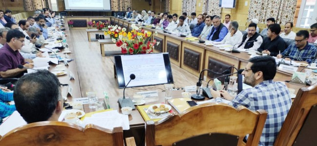 DDC Bandipora reviews progress on various developmental projects