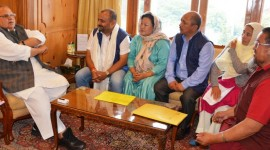 Delegation of nominated Councillors of LAHDCs- Kargil, Leh meets Governor