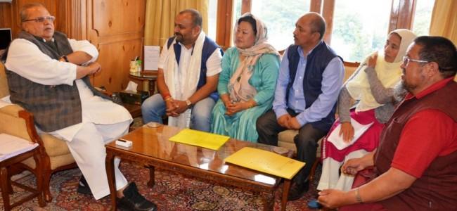 Delegation of nominated Councillors of LAHDCs- Kargil, Leh meets Governor