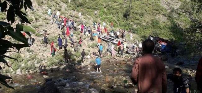 35 killed, 17 injured as bus falls in gorge in Kishtwar