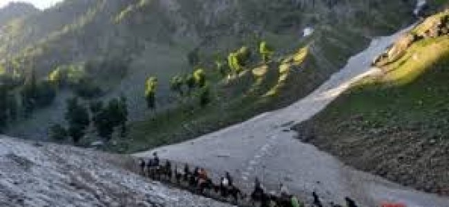 Fresh batch of 2675 yatris leave for Amarnath cave Shrine from Jammu