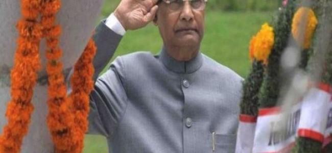 President Kovind pays tribute to Kargil War soldiers at Srinagar