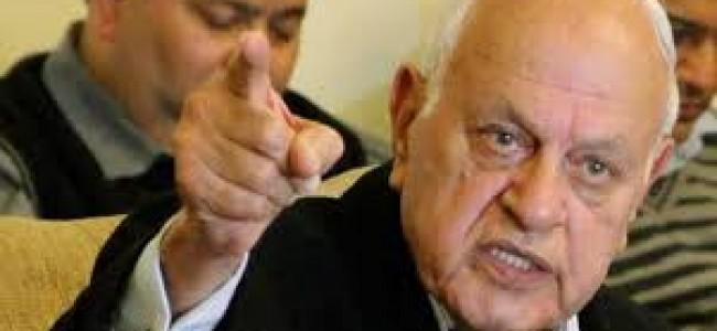 Kashmir a dispute between India, Pak; should be resolved through dialogue: Farooq