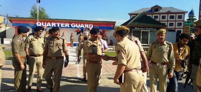 DGP visits Ganderbal, reviews security scenario
