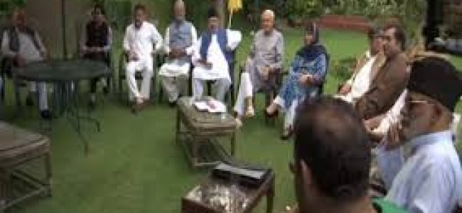 Any tinkering with article 370 would be aggression  on people of J&K, says Farooq  after all party meeting