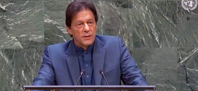 'Help Kashmiris achieve right of self-determination': Pak PM Imran Khan urges UN