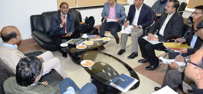 Union Joint Secy reviews progress on computerized registration system in J&K