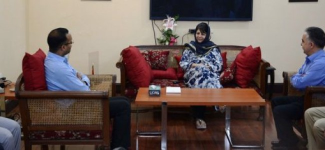 KAS officers meet Mehbooba, thank her for time-bound grade promotion, pay revision