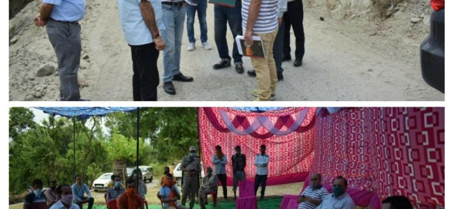 JTFRP starts work on the Upgradation of Anji-Panasa – Devi  Mai to Ohli Mandir Integrated Road Package, Dr Abid Rasheed , CEO ERA JTFRP conducts extensive tour of project areas in Reasi