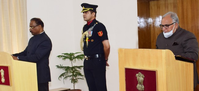 Lt Governor administers oath to BR Sharma as Chairman JKPSC