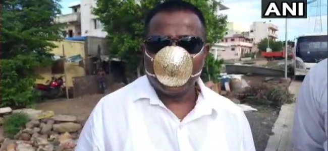 Pune Man Wears Gold Mask Worth Nearly Rs 3 Lakh