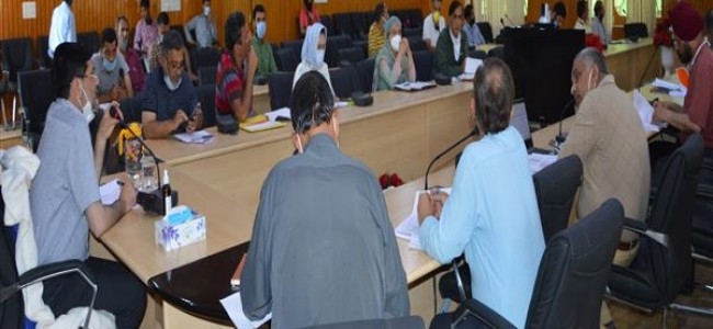 Progress on 113 languishing projects with approved cost of 270 cores reviewed by DDC Budgam