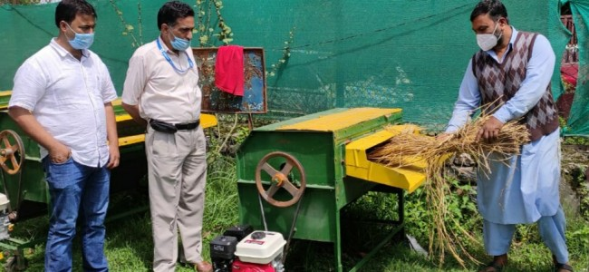 Modern machinery to improve income of farmers and lessen labor dependency in Ganderbal