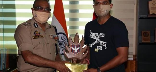 Cricketer Suresh Raina Calls On DGP
