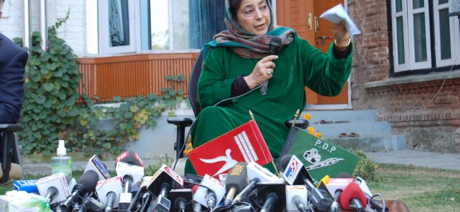 Mehbooba for peaceful struggle to get back honor and rights of people