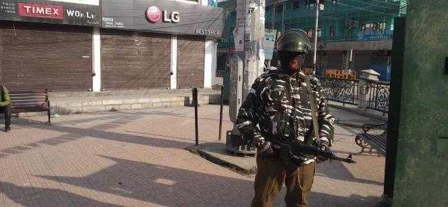 Shutdown in Lal Chowk on Thursday morning