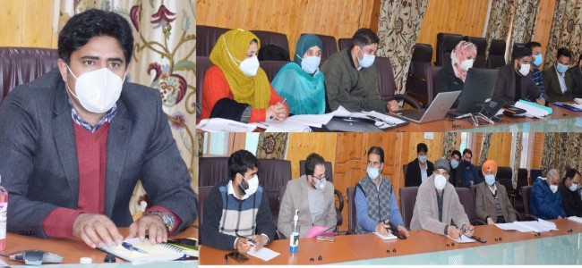 Status of Covid-19 control measures, vaccination reviewed at Pulwama
