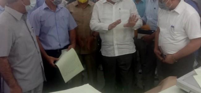 Advisor Khan takes stock of working of Govt Press Srinagar