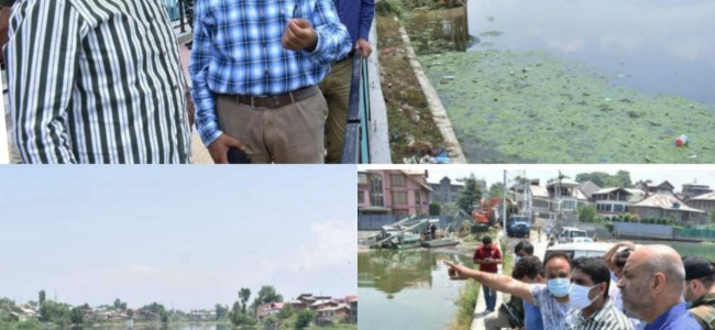 DDC Srinagar visits Gilsar, Babademb to inspect ongoing works of restoration of Water bodies