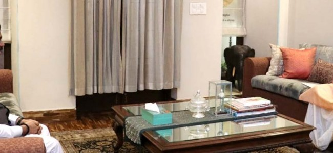 Lt Governor meets Union Education Minister