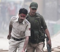 SHO Kralkhud injured in clashes:Pic Mudasir Khan