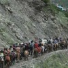 Yatra stalled for the second time due to heavy rains and landslides