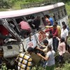 52 people, including 4 children, die as bus falls into valley in Telangana