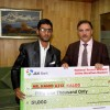 J&K Bank felicitates Ultra Marathon Runner Haamid Aziz