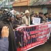 JRL activists protest in Srinagar demanding release of political prisoners