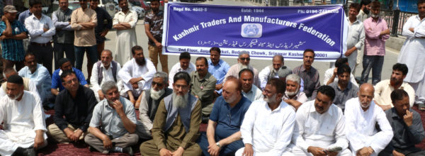Kashmir Economic Alliance sit on protest: Pic Mudasir Khan